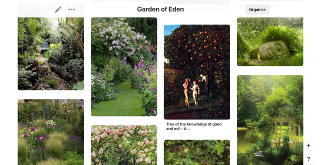 Garden of Eden Pinterest Board