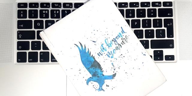 aloma writes laptop keyboard notebook white black silver blue